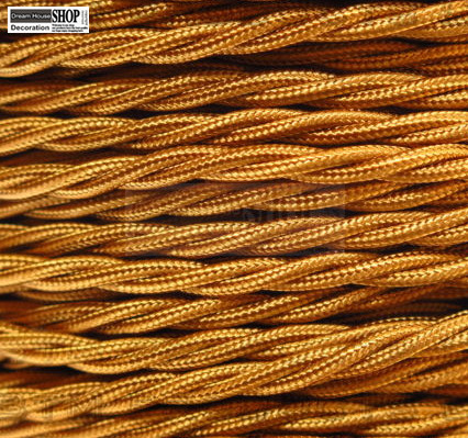 fabric lighting cable 3 core. 100m X 3 Core 0.75mm Round Braided Fabric Electrical Lighting Cable Antique Gold L