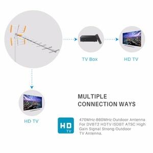 Image 4 - هوائي تلفاز رقمي عالي الدقة من Powstro لـ HDTV DVBT/DVBT2 470 MHz 860 MHz هوائي تلفاز خارجي رقمي مضخم HDTV