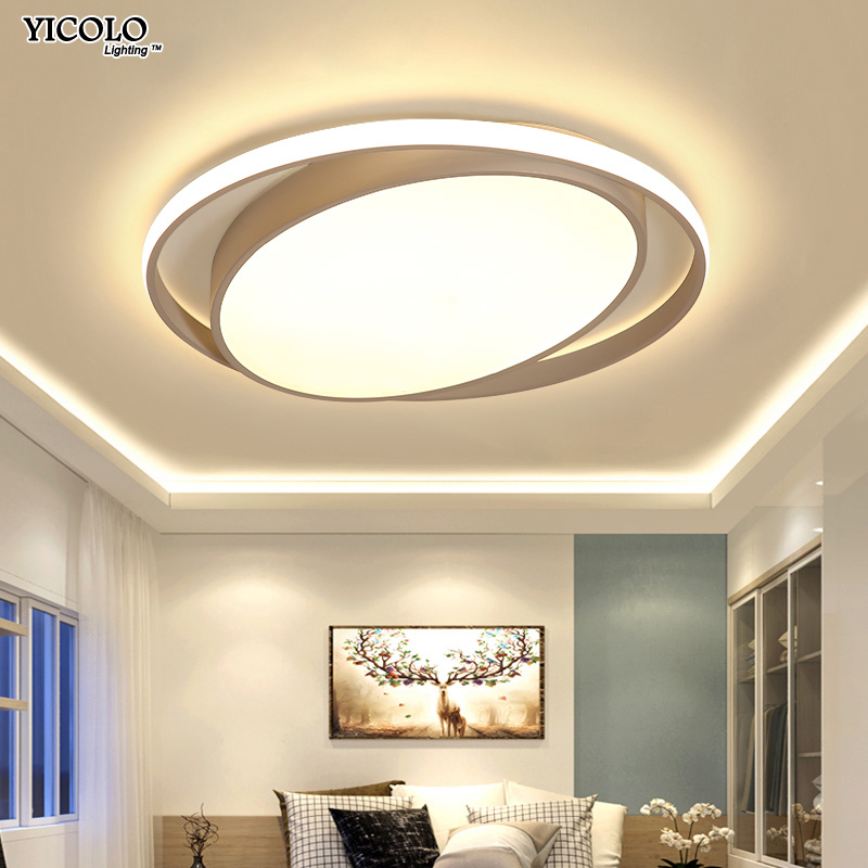 New Arrival Led Ceiling Light Lamp Lighting Fixture Living Room Bedroom Kitchen Surface Mount Dimmable With Remote Control Dero