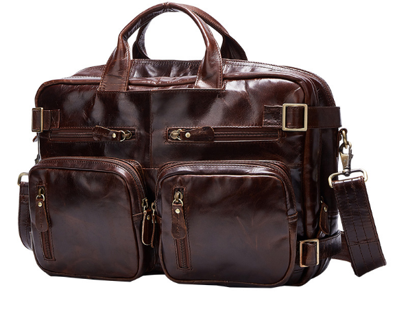 все цены на New Vintage Genuine Leather Male Travel Bag Fashion Portable Casual Business Luggage Bag Large Capacity Oil Wax Duffle Bag C264 онлайн