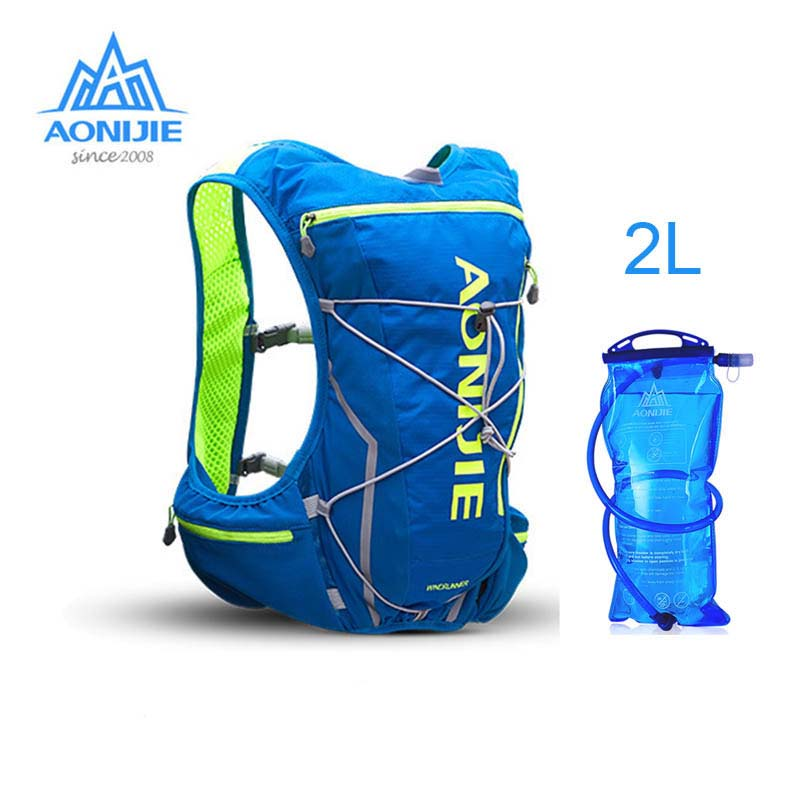 AONIJIE 10L Men Women Nylon Outdoor Bags Hiking Running Backpack Vest Professional Marathon Cycling Climbing Backpack