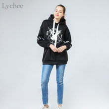 Lychee Harajuku Lolita Style Women Sweatshirt Rabbit Pentacle Print Lace Up Hoodies Casual Loose Long Sleeve Tracksuit