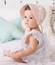 Korean Children Baby Girl Summer Headband Cotton Princess Hat Children Hollow Mesh Cap Hair Accessories 5pcs/a lot free shipping