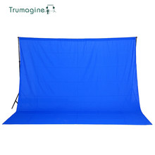 все цены на TRUMAGINE 3*2M/10*6.5ft Blue Screen Fotografia Photography Backdrops Photo Background For Studio Cotton Muslin Backgrounds онлайн