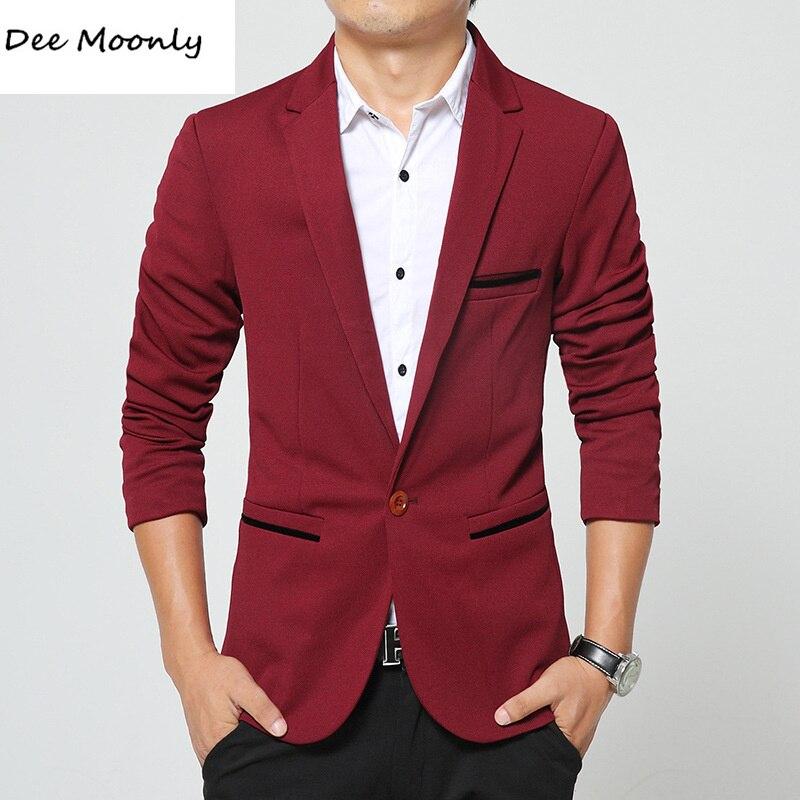 Trajes de alta calidad Trajes Para Hombre casuales Blazers slim fit moda  chaqueta de traje Botón de la Chaqueta Blazer hombres de Negocios traje  Formal ... c7821ecda69