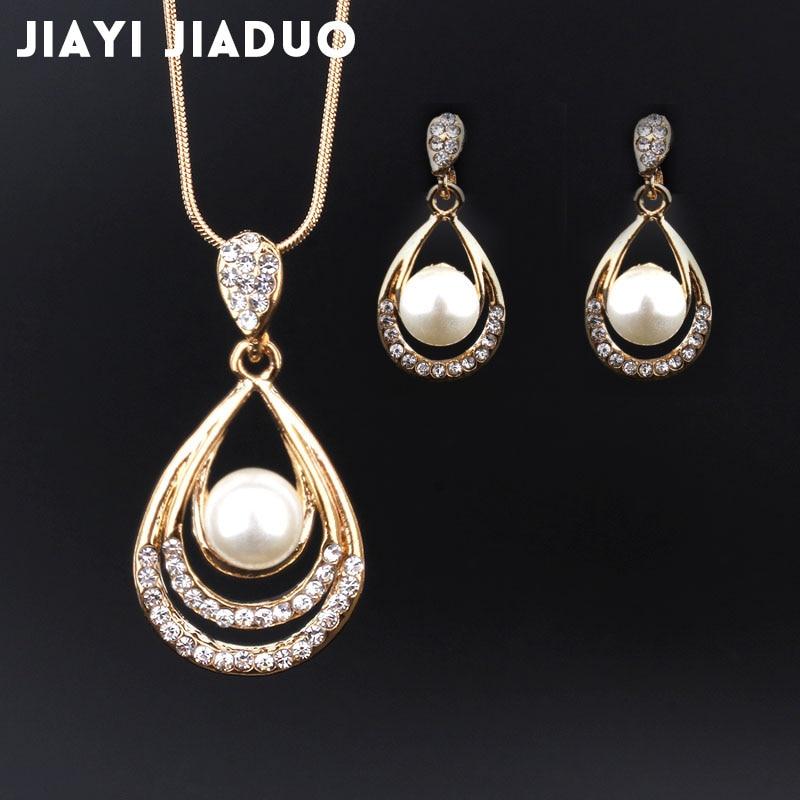 jiayijiaduo Turkish women/'s jewelry set jewelry green pendant earrings gift set
