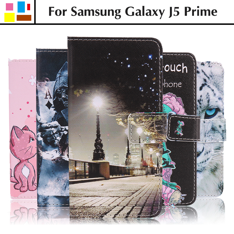 EiiMoo Phone Cover For Samsung Galaxy J5 Prime G570 G570F Silicone Wallet Flip Leather Case For Samsung Galaxy J5 Prime Case