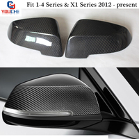 F30 Mirror Cover Replacement Carbon Fiber Rearview Mirror Caps for BMW F20 F22 F23 F30 F31 F32 F33 F36 X1 E84 & 1 4 Series
