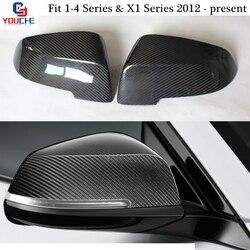 F30 Spiegel Cover Vervanging Carbon Fiber Achteruitkijkspiegel Caps voor BMW F20 F22 F23 F30 F31 F32 F33 F36 X1 e84 & 1-4 Serie