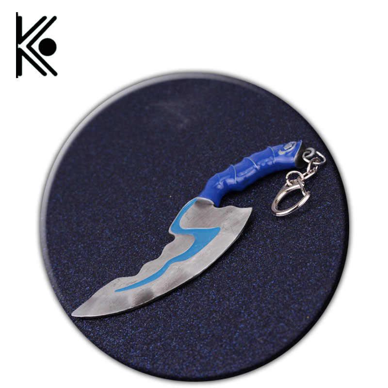 Dota 2 брелок с картинкой мини Blink Dagger прыжок вырезать оружие модельный брелок Для мужчин прохладный ювелирные изделия llaveros Moon Ножи держатель ключа chaveiro