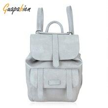 Guapabien школы старинные Водонепроницаемый рюкзак женщины Рюкзаки для девочек школьная для девочек из искусственной кожи путешествия рюкзак