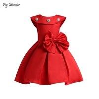 Kids Formal Dress For Flower Girls Wedding Petal Hem Girls Wedding Fancy Princess Dress Girls Clothes