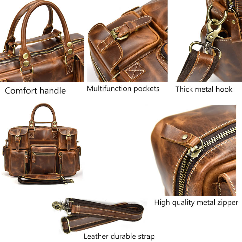 Reise Neue Laptop Grade Business Brown 2 Tasche brown Taschen 1 Mode Aktentasche Männer Top Echtem Aus 16 Handtasche Kuh