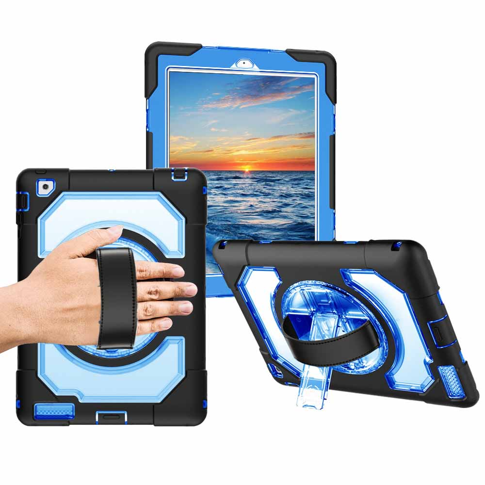 For iPad 2/3/4 Miesherk Universal Case Tablet Shockproof Dustproof Anti-scratch Cover Hand Strap+Neck Strap for iPad A1458 A1416