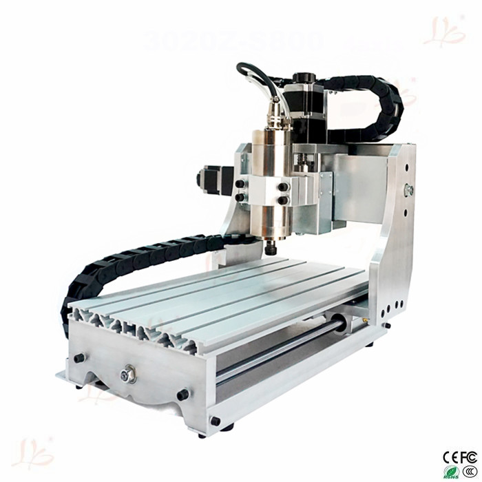 4axis cnc 3020Z-S800 cnc router with 800W water cooling cnc spindle cnc engrave machine free shipping to Europe include tax cnc 5axis a aixs rotary axis t chuck type for cnc router cnc milling machine best quality