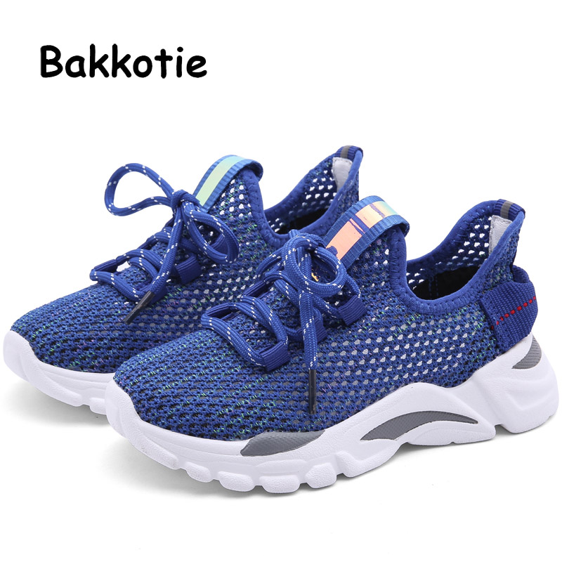 Bakkotie 2019 Summer Boys Fashion Reflective Sports Shoes Kids Soft Casual Running Shoes Girls New Breathable Mesh SneakersBakkotie 2019 Summer Boys Fashion Reflective Sports Shoes Kids Soft Casual Running Shoes Girls New Breathable Mesh Sneakers