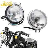 6 zoll Motorrad Retro Front Licht Scheinwerfer Hohe Abblendlicht Halogen Lampe Led-lampe Scheinwerfer Für Honda Yamaha Harley Custom Cafe racer