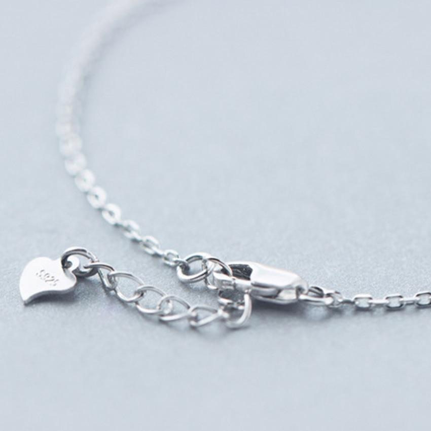 Kinitial 1Pcs 925 Sterling Silver Music Symbol Narukvice za žene CZ - Modni nakit - Foto 2