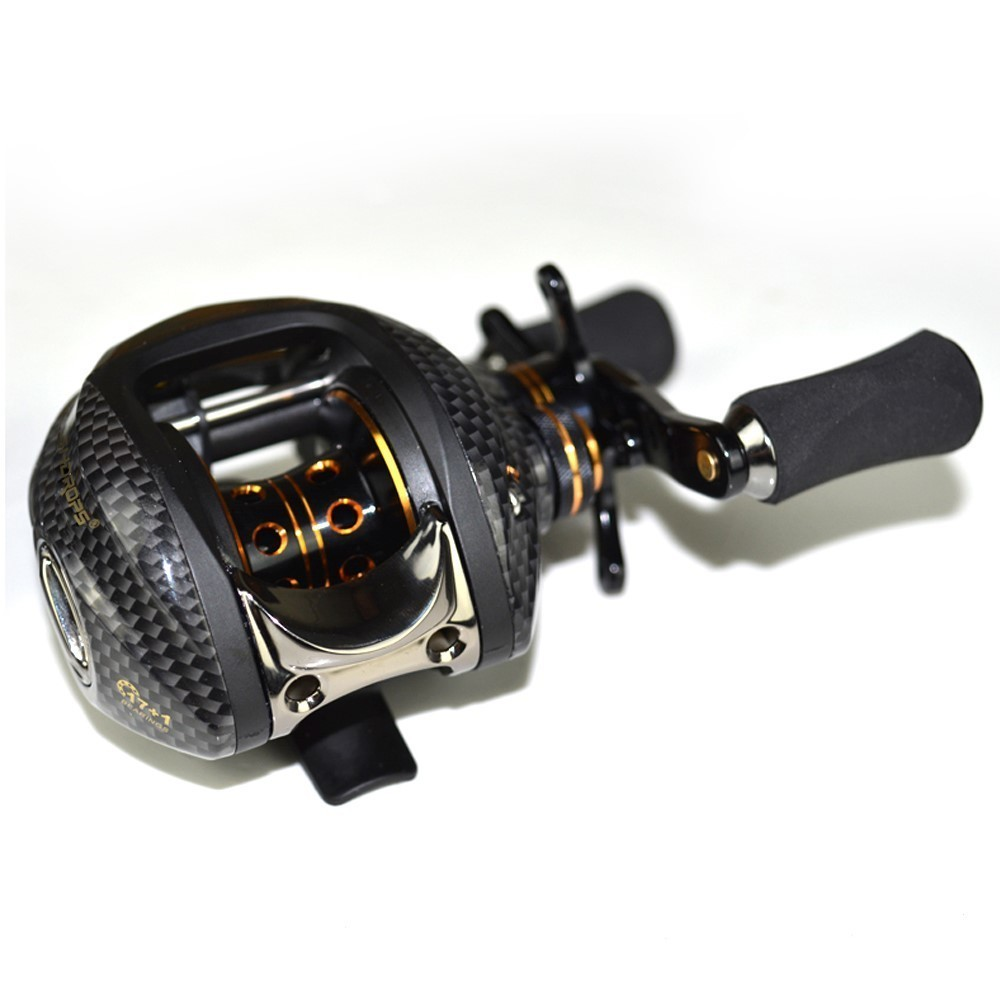 Fishdrops Saltwater Bait Casting Reel Lb200 18BB  Ratio7.0:1 Double Brake Systems Left Right Hand Fishing Baitcasting Reel