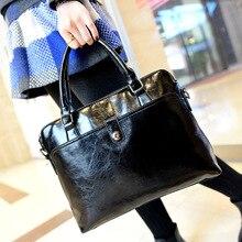 Women's Business Handbags 2017 New Lady Solid Bags Women Handbags Single Shoulder Bags PU Leather Handbags