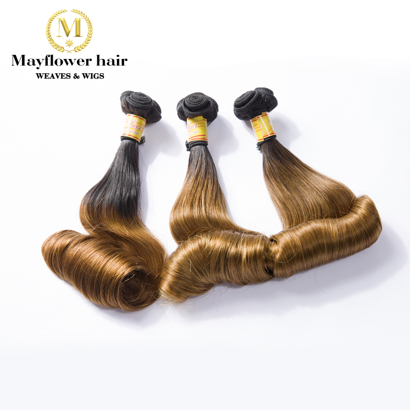 Mayflower Funmi Hair Bouncy Egg Curl 1/2/3 Bundles Mixed Length 10-18