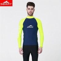 SBART Men Lycra Wetsuits T Shirt Lycra Long Sleeve Anti UV UPF50+ Quick Dry Surf Scuba Float Diving Wetsuits T Shirt Plus XXXXL