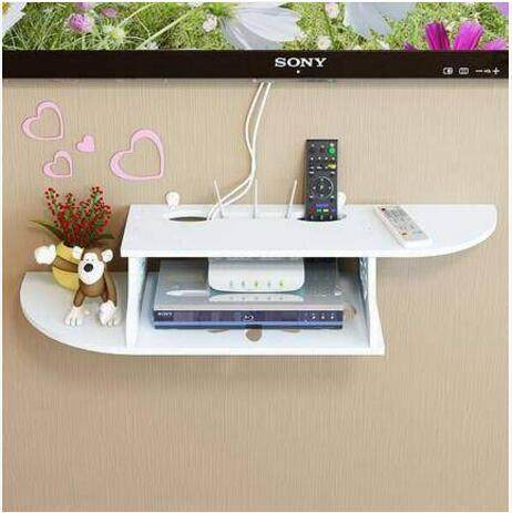 The TV Set Top Box Shelf Living Room Wall Decoration Router Partition