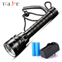 30000lum LED Diving Flashlight Torch L2/T6 Dive Torch 200M Underwater Tactical LED Flashlights Scuba Lantern Use 18650 Battery xml t6 l2 powerful battery flashlight diving professional portable dive torch underwater illumination waterproof flashlights