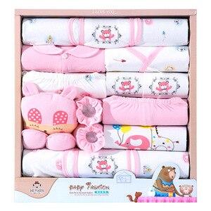 Image 2 - Ropa de bebé de 18 piezas para niño, ropa para recién nacido, niño, primavera y otoño, atuendo para niños recién nacidos de algodón con oso feliz