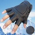 Guantes de Airsoft de bicicletas de trabajo de combate guerra militar táctico del ejército exterior Paintball Combat duro Knuckle guantes de medio dedo