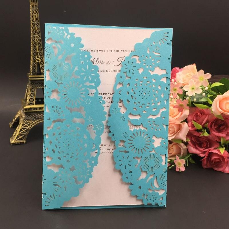 100PCS Flower design wedding invitation card Handmade Greeting card ...