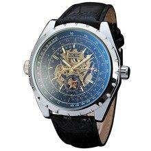 GANADOR de Los Hombres Militares Relojes de Primeras Marcas de Lujo Mecánico Automático Relojes de Los Hombres Esqueléticos del Reloj de Moda de Regalo para Los Hombres + CAJA