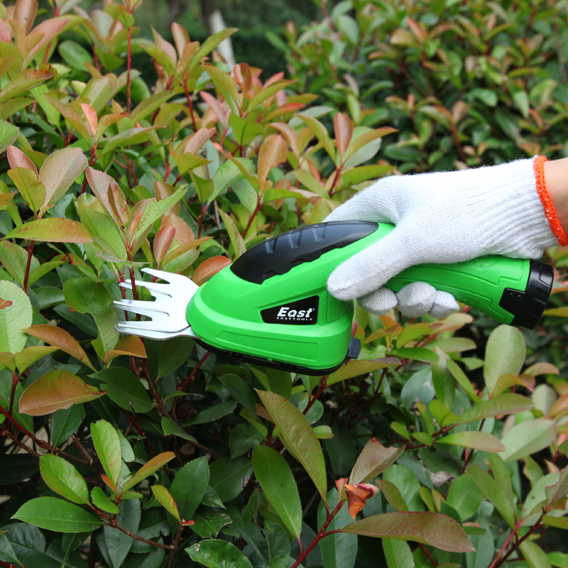 East Garden Tools 3.6V Grass Cutter Pruning Tools Brush Cutter Pruning Shears Grass Trimmer Lawn Mower ET1205C 2in1