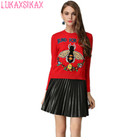 2018 New Autumn Winter Women Sweater High Quality Fashion Designer Embroidery Sequined Runway Sweater Knitted Pullover Sweater