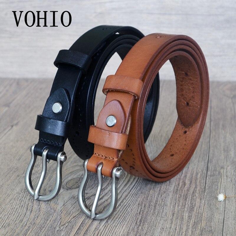 Femmes ceintures de 2.5 cm large Allongé ceinture creux Adapté pour robe denim ceinture mince Brun 130 cm longueur femmes ceinture chaude