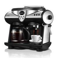 Coffee Machine 2 Flavors Espresso American/Italian Double Pumps And Boilers Cappuccino Latte Macchiato Mocha Milk Froth Maker