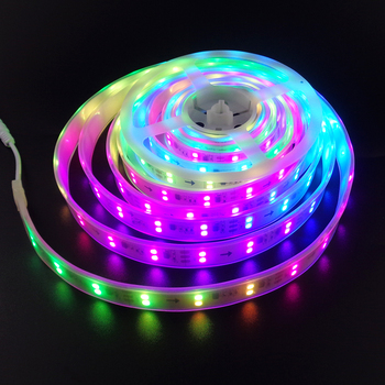 Led Strip ws2811ic dream color double raw no need control SMD 5050 chip DC12V IP67 indoor outdoor flexible ribbon 60leds/M KO