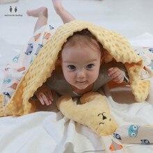 купить Baby Blanket & Swaddling Newborn Soft Thermal Fleece Blanket Bedding Kids Back Seat Cover Cotton Quilt дешево