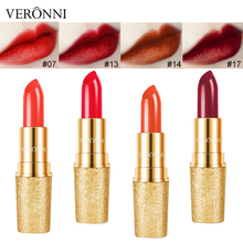 New Matte Lipstick Waterproof Brand Lip Stick VERONNI 17 Colors Sexy Red Brown Pigments Makeup Lipsticks Cosmetic Tint