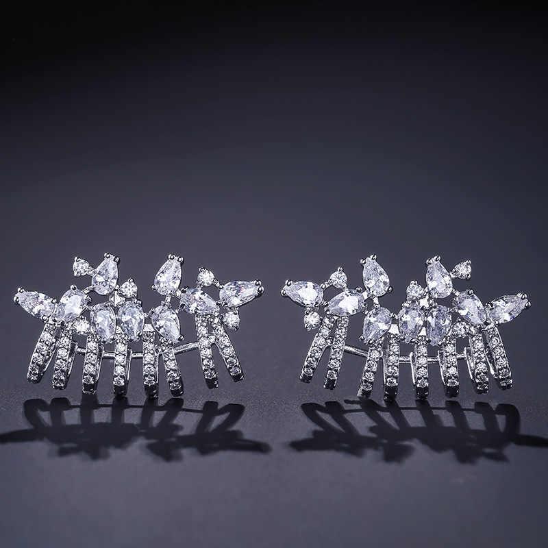LISM, модные элегантные серьги, полный кубический циркон, элегантные ювелирные изделия для женщин, свадебные аксессуары для вечеринки