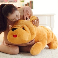35-85 cm Sevimli büyük boy peluş oyuncaklar Çin Şarpi Peluş Oyuncaklar Bez bebek dolması peluş Sarı Köpek yastık yastık doğum günü hediyesi