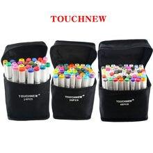 Touchnew 30/40/60/80 cor dupla cabeça marcador de arte conjunto álcool baseado esboço marcador caneta para o artista desenho manga design arte fornecedor
