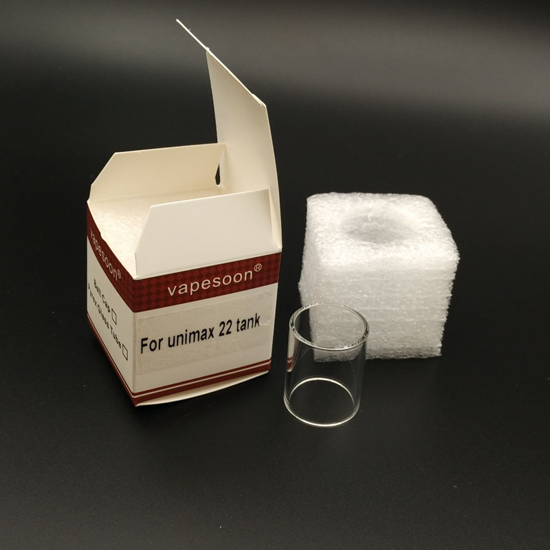 bilder für 5 teile/los 100% original vapesoon ersatzglasrohr für joyetech unimax 22 zerstäuber gute paket