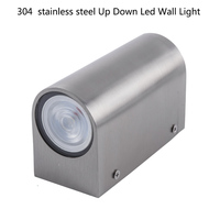 110V/220V outdoor LED Wall Light Waterproof Garden porch lights up and down led wall lamp with GU10 led spot light