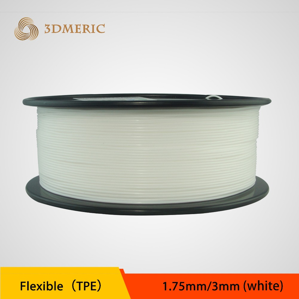 1kg 1 75mm 3 00mm white flexible filament Flex filament rubber filament for 3d font b