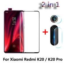 2 ใน 1 หน้าจอป้องกัน Protector ฟิล์มแก้วสำหรับ Xiao mi สีแดง mi K20 mi 9T Pro กลับกล้องเลนส์กระจกนิรภัยสีแดง mi K20 Pro