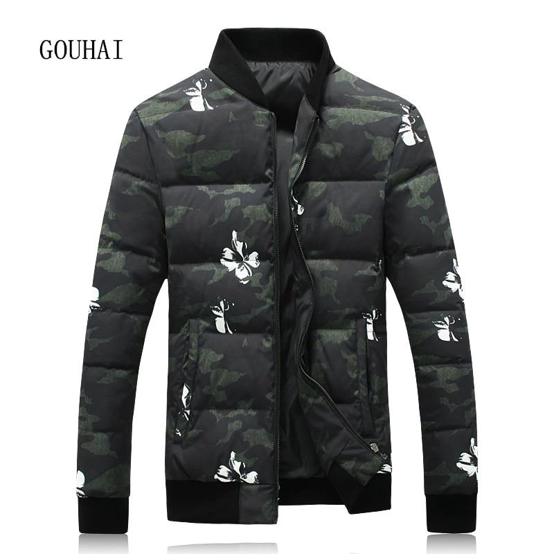 Winter Jacket Men White Duck Down Jacket Men 4XL 5XL Camouflage Warm Short Coat Man Feather Jacket Men Parka Homme Top Quality top quality white duck down feather filler bed mat 100