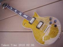 Wholesale New lp custom Electric guitar Eight Horses inlay in fingerboard Yellow Free Shipping a100205