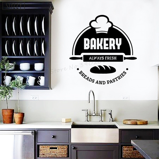 Stizzy Wall Decal Modern Design Bakery Cake Shop Wall Sticker Quote Fresh Bread Pastries Window Decor Poster Kitchen Decals B304 Wall Stickers Aliexpress