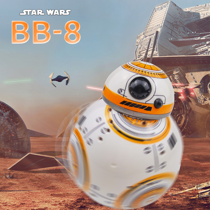 Star Wars BB 8 RC Robot Star Wars BB-8 2.4G fjärrkontroll BB8 Figur Robot Action Robot Sound Intelligent Leksaker Bil för barn